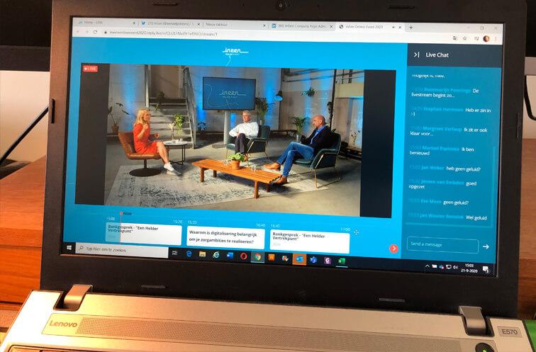 Screenshot online event dag 1
